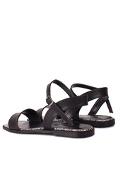 Fitbas 111602 941 Kadın Siyah Büyük & Küçük Numara Sandalet - Thumbnail