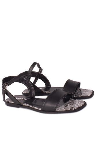 Loggalin - Loggalin 111602 941 Kadın Siyah Büyük & Küçük Numara Sandalet (1)