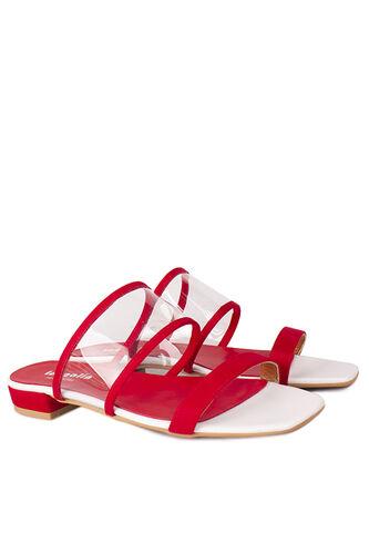 Fitbas - Fitbas 111620 527 Kadın Kırmızı Büyük & Küçük Numara Terlik (1)