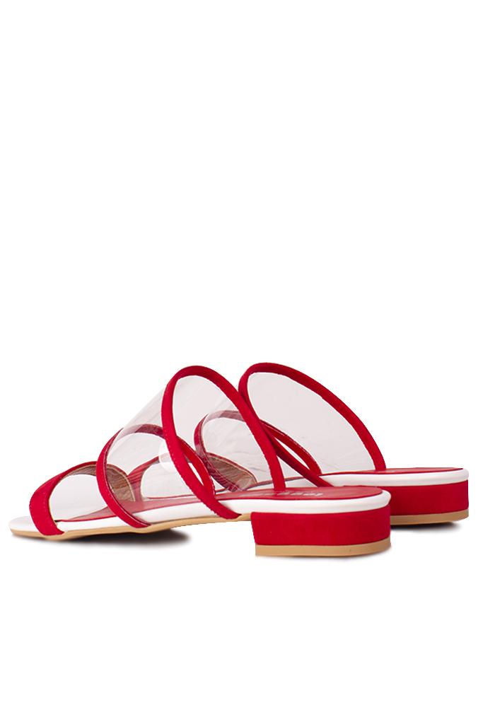 Fitbas 111620 527 Kadın Kırmızı Büyük & Küçük Numara Terlik
