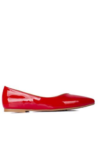 Fitbas - Fitbas 112001 520 Kadın Kırmızı Rugan Büyük & Küçük Numara Babet (1)