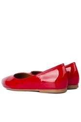 Fitbas 112001 520 Kadın Kırmızı Rugan Büyük & Küçük Numara Babet - Thumbnail