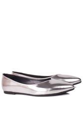 Fitbas 112001 770 Kadın Gümüş Büyük & Küçük Numara Babet - Thumbnail