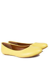 Fitbas 112008 125 Kadın Sarı Büyük & Küçük Numara Babet - Thumbnail