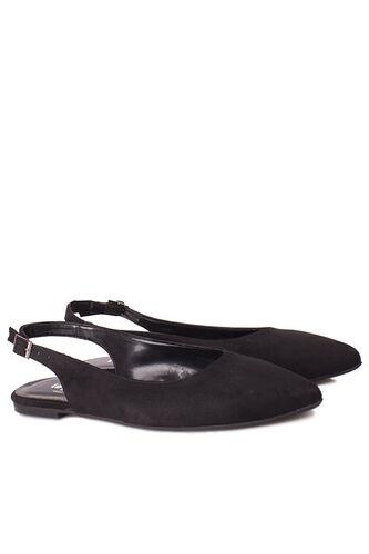 Loggalin - Loggalin 112028 008 Kadın Siyah Süet Büyük & Küçük Numara Babet (1)