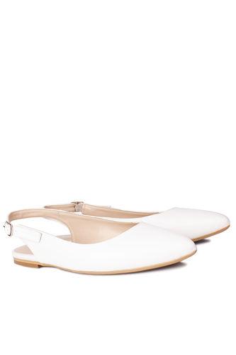 Fitbas - Fitbas 112028 468 Kadın Beyaz Büyük & Küçük Numara Babet (1)