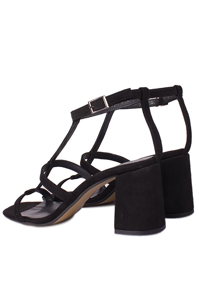 Fitbas 112151 008 Kadın Siyah Topuklu Büyük & Küçük Numara Sandalet