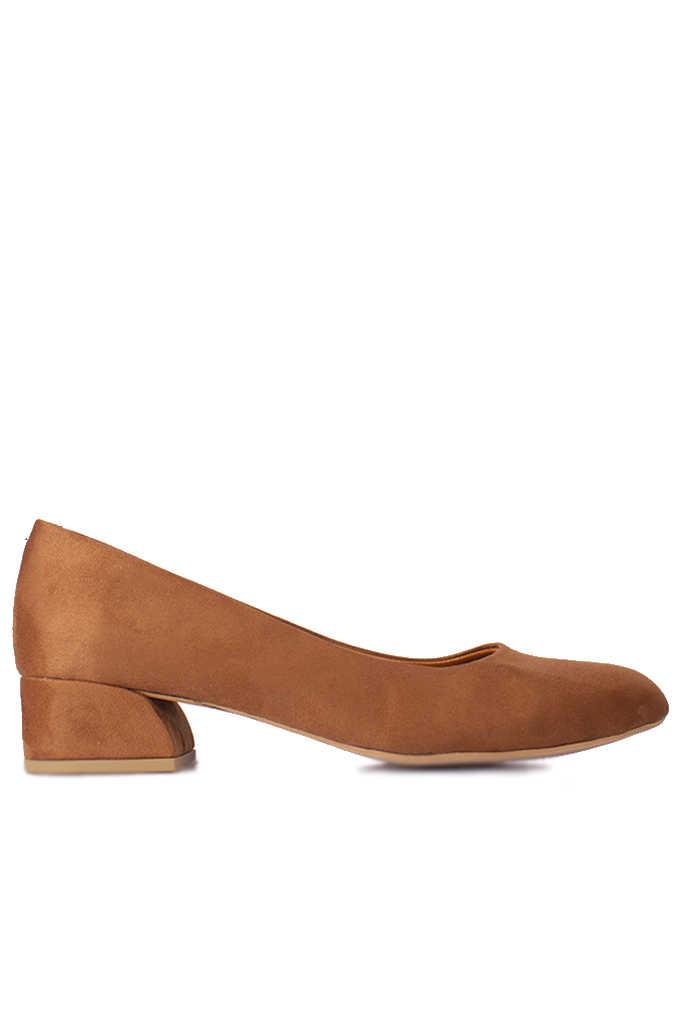 Fitbas 112301 167 Kadın Taba Süet Büyük & Küçük Numara Ayakkabı