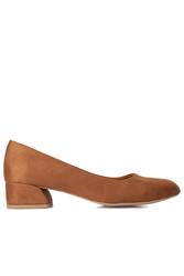 Fitbas 112301 167 Kadın Taba Süet Büyük & Küçük Numara Ayakkabı - Thumbnail