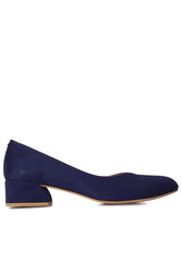 Fitbas 112302 427 Kadın Lacivert Süet Büyük & Küçük Numara Ayakkabı - Thumbnail