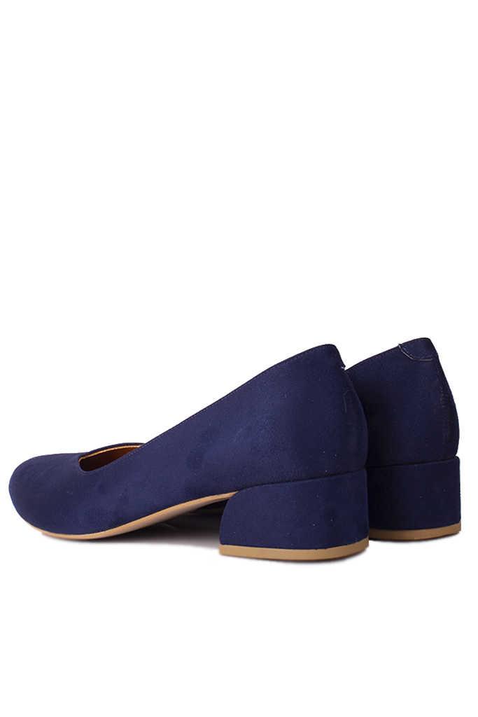 Fitbas 112302 427 Kadın Lacivert Süet Büyük & Küçük Numara Ayakkabı