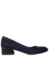 Fitbas 112303 045 Kadın Siyah Lacivert Büyük & Küçük Numara Ayakkabı - Thumbnail