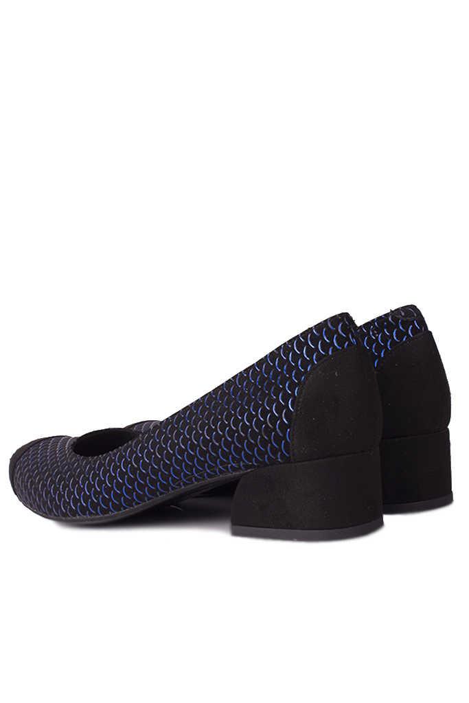 Fitbas 112303 045 Kadın Siyah Lacivert Büyük & Küçük Numara Ayakkabı