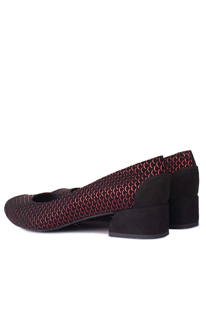 Fitbas 112303 055 Kadın Siyah Kırmızı Büyük & Küçük Numara Ayakkabı