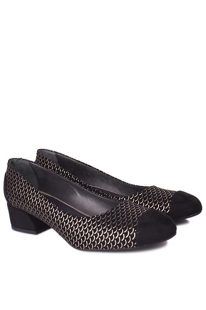 Fitbas 112303 071 Kadın Siyah Gümüş Büyük & Küçük Numara Ayakkabı