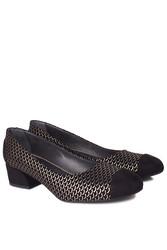 Fitbas 112303 071 Kadın Siyah Gümüş Büyük & Küçük Numara Ayakkabı - Thumbnail