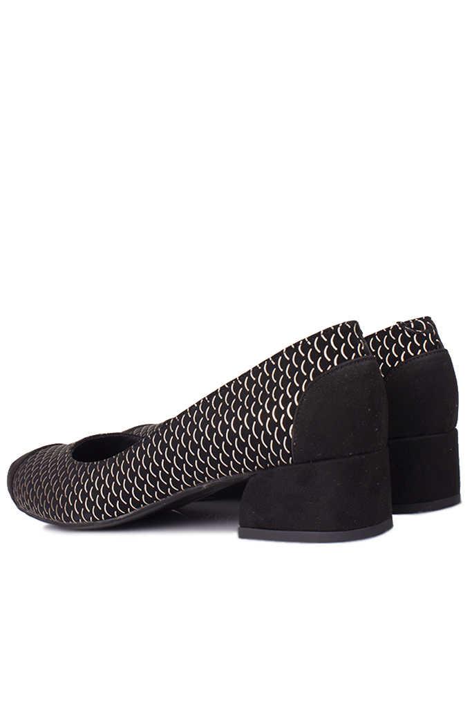 Loggalin 112303 071 Kadın Siyah Gümüş Büyük & Küçük Numara Ayakkabı