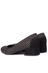 Loggalin 112303 071 Kadın Siyah Gümüş Büyük & Küçük Numara Ayakkabı - Thumbnail