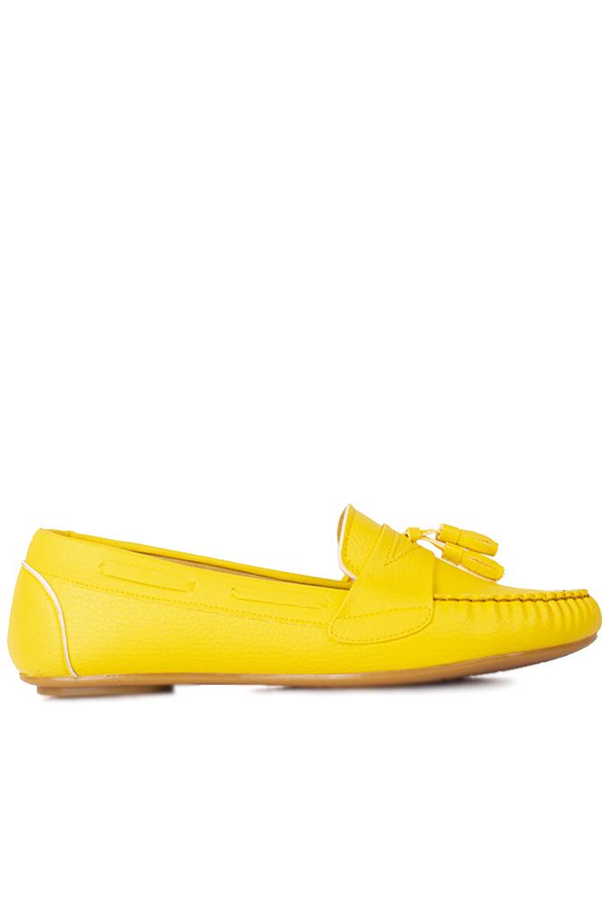 Fitbas 112901 124 Kadın Sarı Büyük & Küçük Numara Babet
