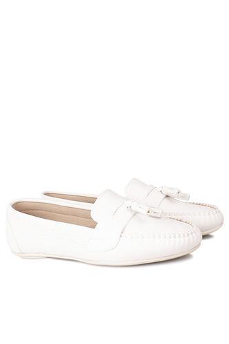 5 - Loggalin 112901 468 Kadın Beyaz Babet (1)