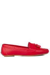 Loggalin 112901 524 Kadın Kırmızı Babet - Thumbnail