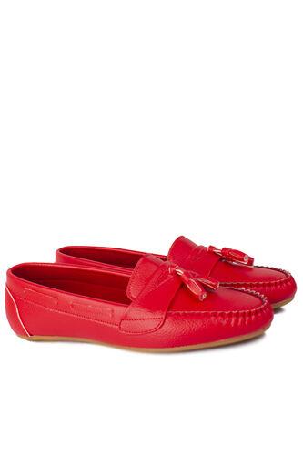 Loggalin - Loggalin 112901 524 Kadın Kırmızı Büyük & Küçük Numara Babet (1)
