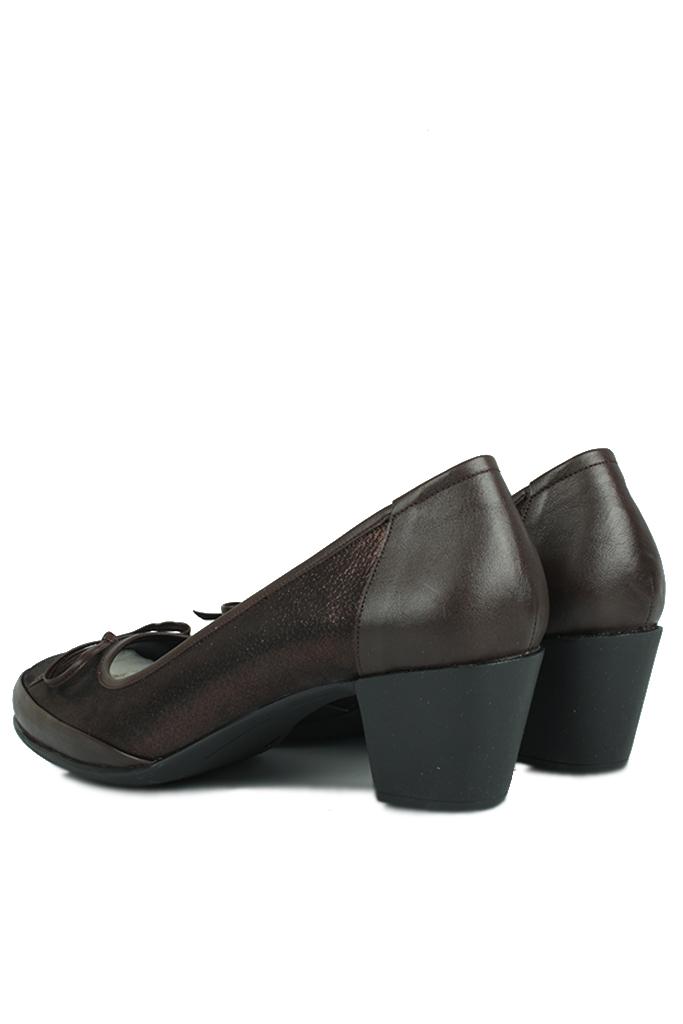 Loggalin 119416 729 Kadın Bakır Deri Ayakkabı