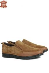 Fitbas 119517 167 Kadın Taba Deri Büyük Numara Ayakkabı - Thumbnail
