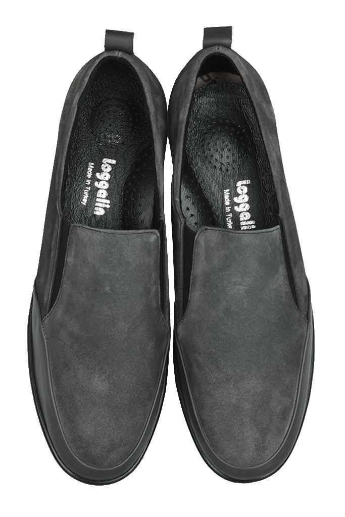 Fitbas 119517 545 Kadın Gri Deri Büyük Numara Ayakkabı