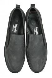 Fitbas 119517 545 Kadın Gri Deri Büyük Numara Ayakkabı - Thumbnail