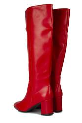 Loggalin 377901 524 Kadın Kırmızı Cilt Çizme - Thumbnail