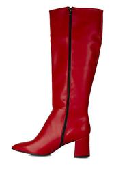 Fitbas 377901 524 Kadın Kırmızı Mat Büyük & Küçük Numara Çizme - Thumbnail