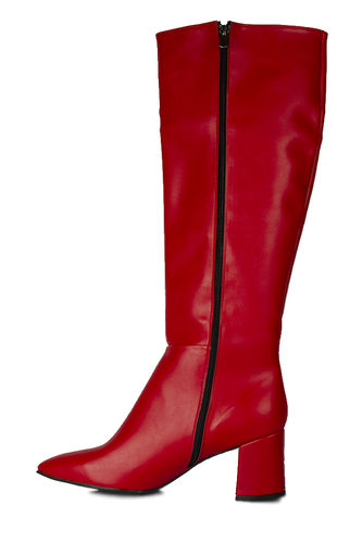 Fitbas - Fitbas 377901 524 Kadın Kırmızı Mat Büyük & Küçük Numara Çizme (1)