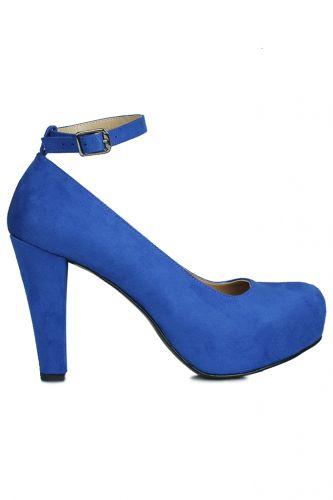 Fitbas 430902 427 Kadın Saks Süet Platform Büyük & Küçük Numara Ayakkabı