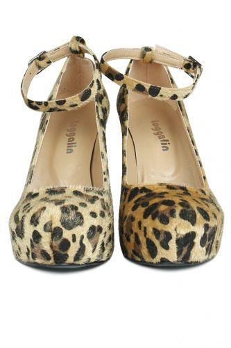 Loggalin - Loggalin 430902 999 Kadın Leopar Platform Ayakkabı (1)