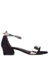 Fitbas 520033 771 Kadın Gümüş Topuklu Büyük & Küçük Numara Ayakkabı - Thumbnail