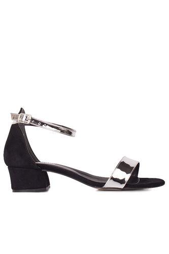Fitbas 520033 771 Kadın Gümüş Topuklu Büyük & Küçük Numara Ayakkabı