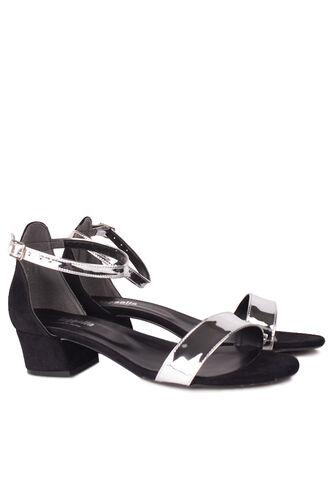Fitbas - Fitbas 520033 771 Kadın Gümüş Topuklu Büyük & Küçük Numara Ayakkabı (1)
