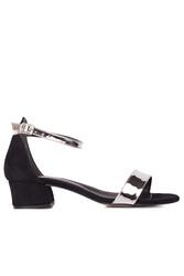 Loggalin 520033 771 Kadın Gümüş Topuklu Büyük & Küçük Numara Ayakkabı - Thumbnail
