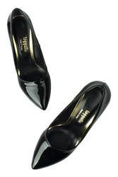 Fitbas 520121 020 Kadın Siyah Rugan Büyük & Küçük Numara Stiletto - Thumbnail