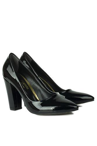 Loggalin - Loggalin 520121 020 Kadın Siyah Rugan Büyük & Küçük Numara Stiletto (1)