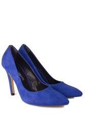 Fitbas 520207 427 Kadın Mavi Büyük & Küçük Numara Stiletto - Thumbnail