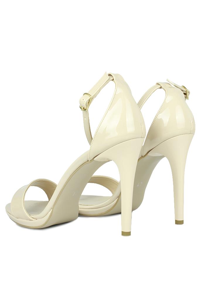 Loggalin 520333 320 Kadın Ten Rugan Topuklu Platform Ayakkabı