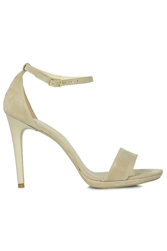 Loggalin 520333 327 Kadın Ten Süet Topuklu Platform Büyük & Küçük Numara Ayakkabı