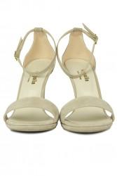Loggalin 520333 327 Kadın Ten Süet Topuklu Platform Büyük & Küçük Numara Ayakkabı - Thumbnail
