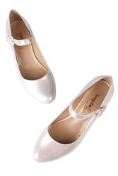 Fitbas 784302 771 Kadın Gümüş Büyük & Küçük Numara Ayakkabı - Thumbnail