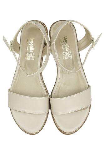 Fitbas - Fitbas 785206 324 Kadın Ten Büyük & Küçük Numara Sandalet (1)