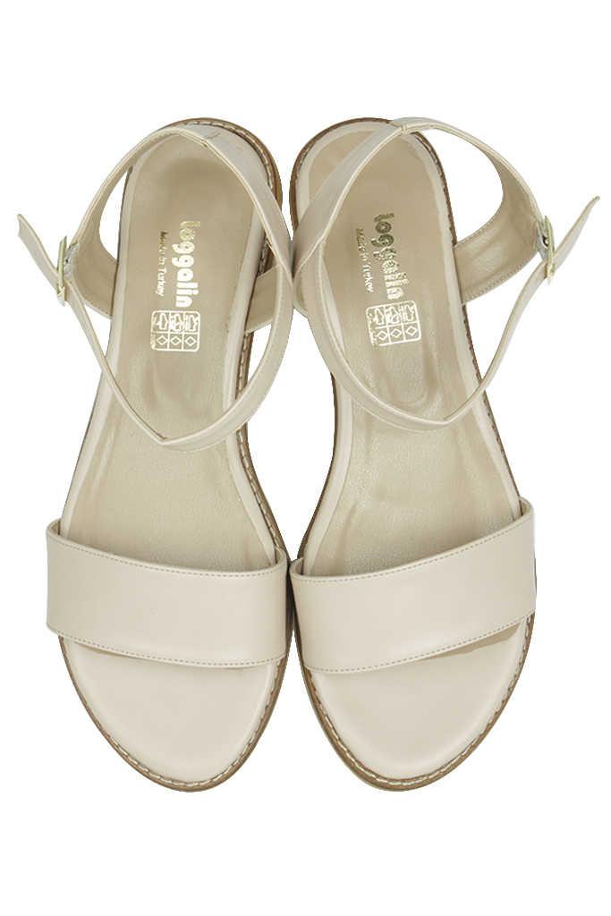 Loggalin 785206 324 Kadın Ten Büyük & Küçük Numara Sandalet