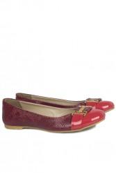 Fitbas 222018 555 Kadın Kırmızı Büyük & Küçük Numara Babet - Thumbnail