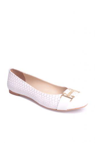 Fitbas - Fitbas 222018 666 Kadın Beyaz Büyük & Küçük Numara Babet (1)